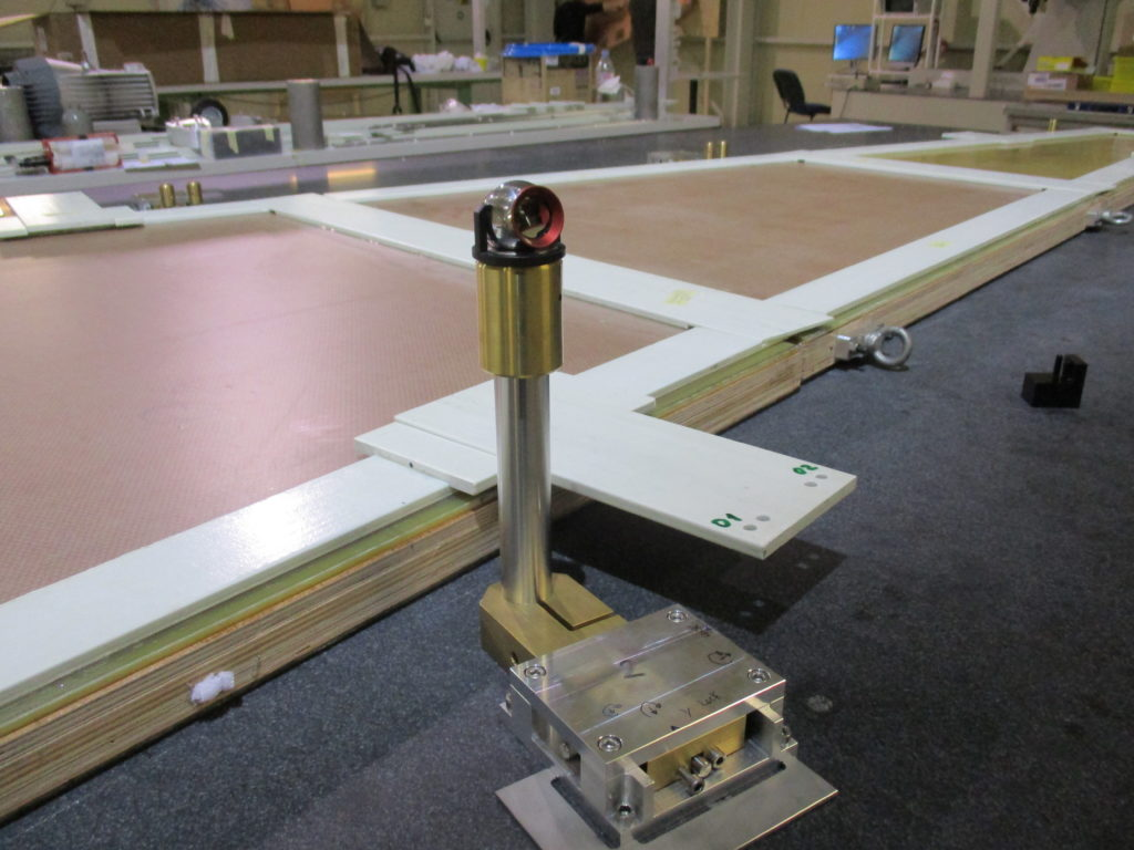 sTGC assembly on a granite table
